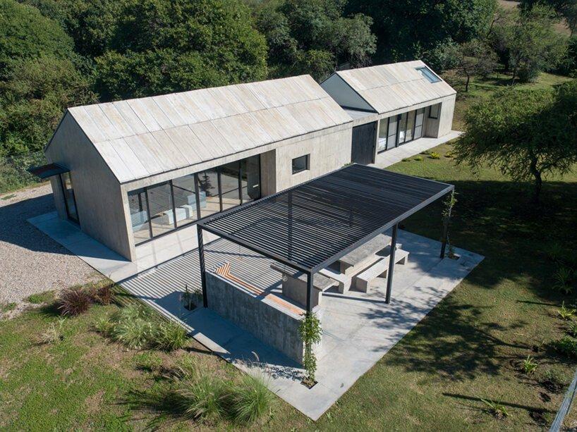 A GRUPO studio tervezőiroda háza egy minimalista betonépület Argentínában